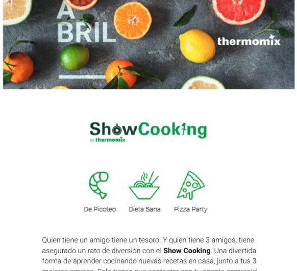 NUEVO REGALO PARA NUESTROS CLIENTES, SHOW COOKING ¡¡