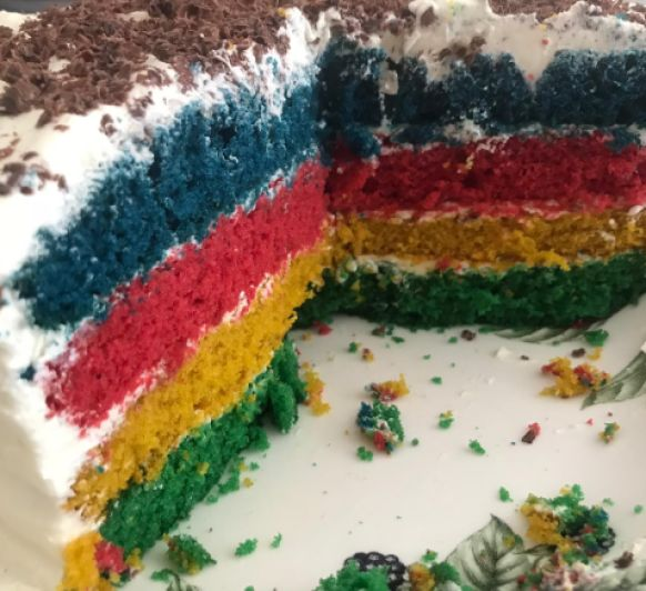 Rainbow cake (tarta Arco Íris)