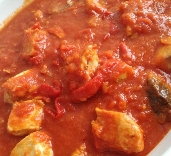 Bonito con tomate receta clásica hecha en Thermomix®
