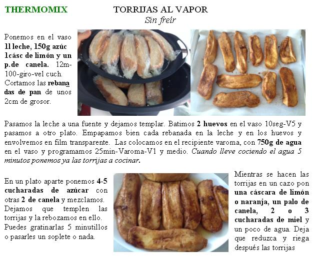 TORRIJAS AL VAPOR CON Thermomix®