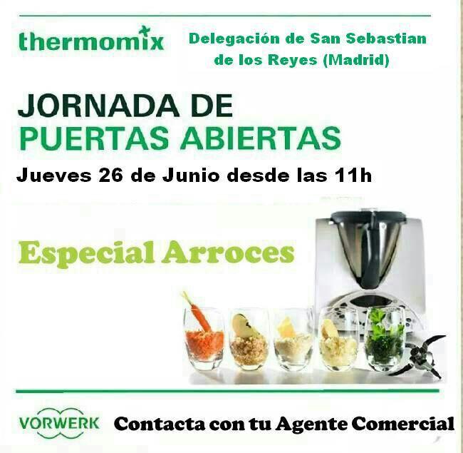 JORNADA DE PUERTAS ABIERTAS EN Thermomix® - ESPECIAL ARROCES