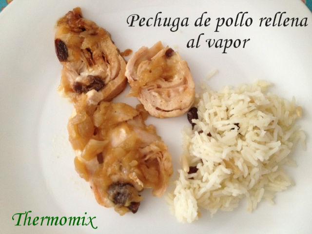 PECHUGA DE POLLO RELLENA AL VAPOR CON Thermomix®
