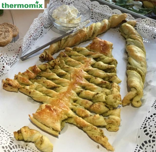 Arbol de Navidad al Pesto con Thermomix®
