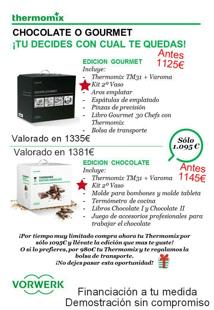 NUEVA PROMOCIÓN Thermomix® . Edición Chocolate o Edición Gourmet