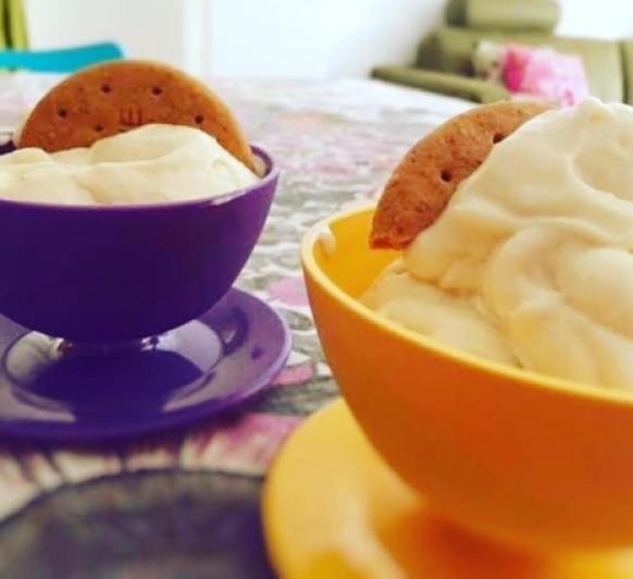 Copa helada de pera y plátano con Thermomix® , Cookidoo y Cook key. Cocina guiada