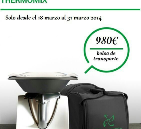 2 Promociones: Thermomix® + bolsa de transporte gratis ó 4 libros de nuestra cocina regional