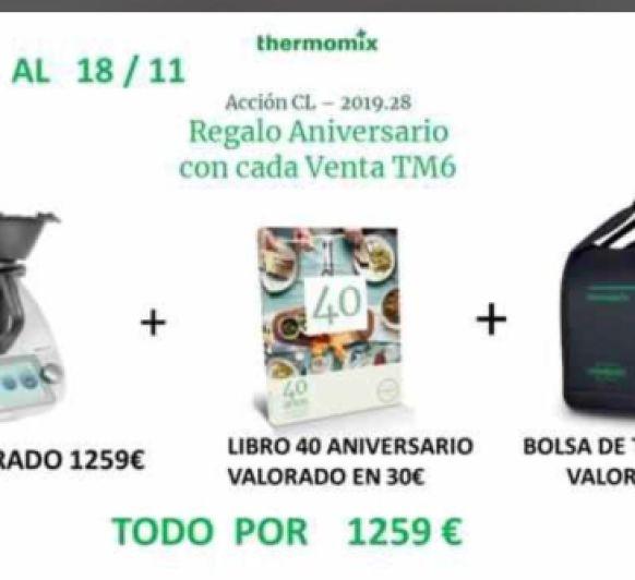 UNA NUEVA OFERTA CON Thermomix® TM6 , REGALO DE BOLSA Y LIBRO 40 AÑOS