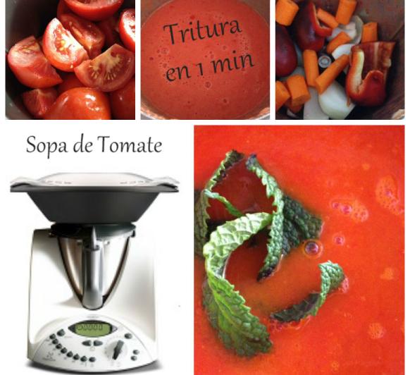 SOPA DE TOMATE CON Thermomix®