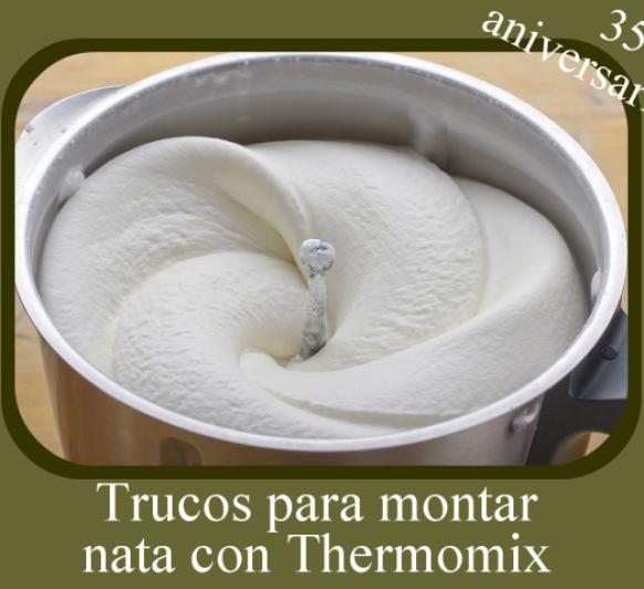 Trucos para montar nata con Thermomix®