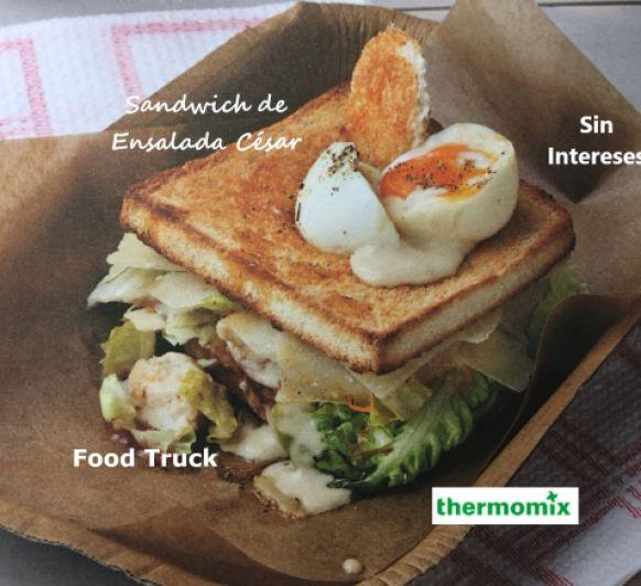 SANDWICH DE ENSALADA CESAR CON Thermomix® . FOOD TRUCK SIN INTERESES