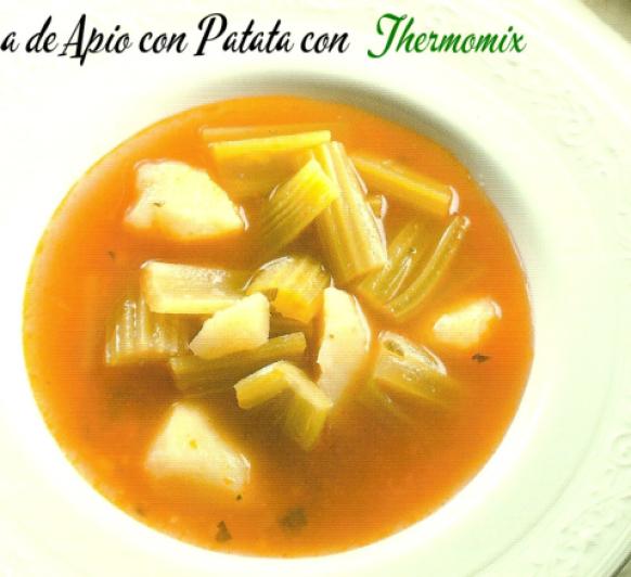 Sopa de Apio con Patata (depurativa) con Thermomix®