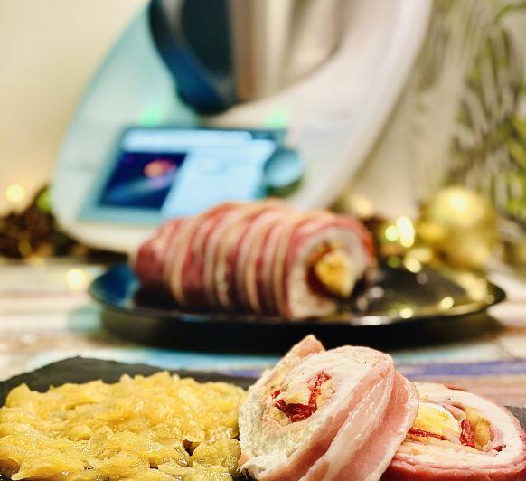 """Plato principal para Navidad """"Pechuga de pavo rellena con cebolla caramelizada en Thermomix® TM6"""""""