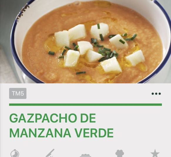 Gazpacho manzana verde con comino