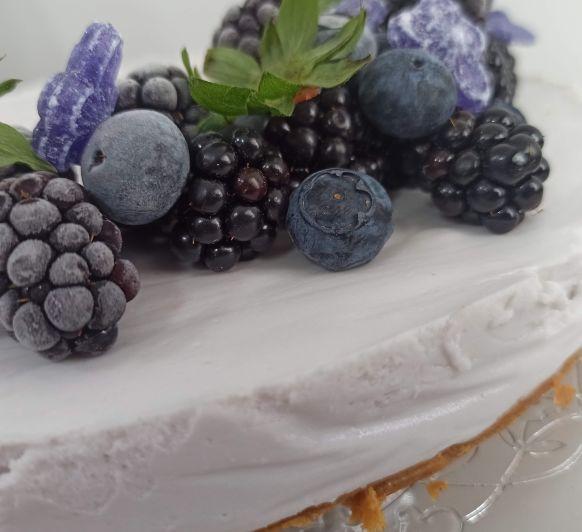 Receta de Tarta de violetas, con caramelos de violetas de Madrid, Thermomix®