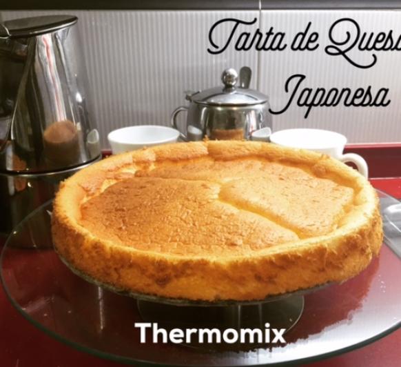 Tarta de queso Japonesa (Ligera) con Thermomix®