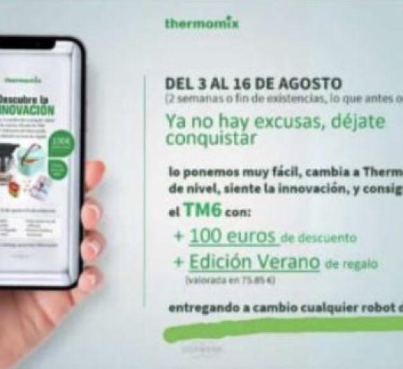 Verano 2021: 100€ de DESCUENTO en la compra Thermomix® TM6