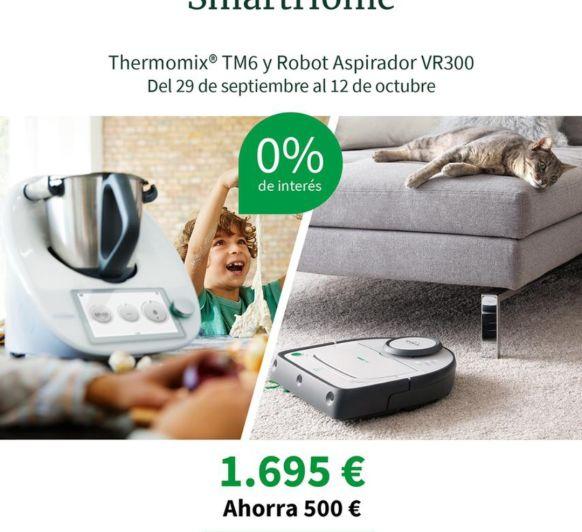 Compra tu Thermomix® TM6 y el robot limpiador VR300, edición SmartHome, y al 0%