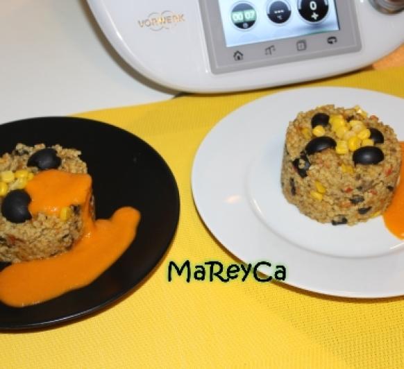 Pastel de mijo y verduras con Thermomix® , recetas Thermomix®