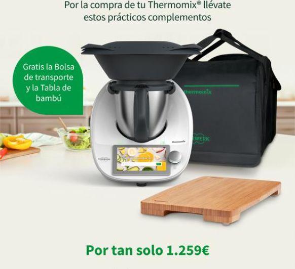 PROMOCIÓN ESPECIAL Thermomix® TM6 (TABLA DE BAMBÚ + BOLSA) 1.259€