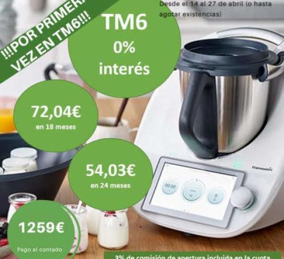 Thermomix® TM6 financiado al 0% de interés